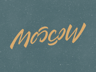 Moscow (ambigram) vector design typography typeface ambigram moscow calligraphy handlettering lettering