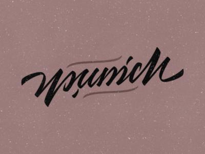 Munich ambigram typeface illustrator handmade idea vector design typography calligraphy handlettering lettering ambigram munich