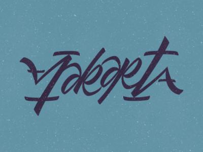 Jakarta (ambigram) typeface idea illustrator vector design calligraphy handlettering ambigram lettering jakarta