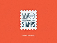The 100 Day Project: Stamps, Day 001