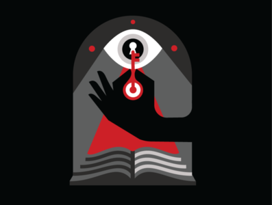 Seek knowledge news company values cnn iconography design vector simple logo illustration
