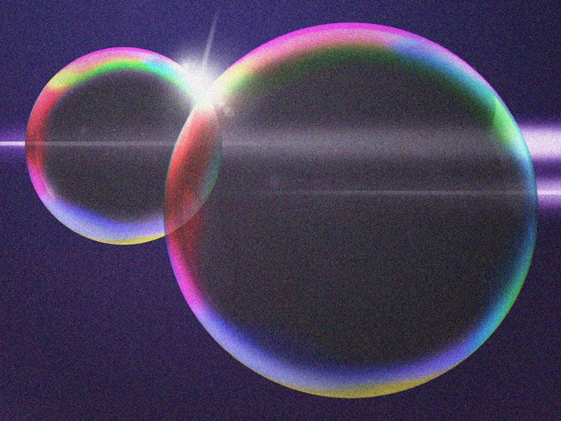 bubble? gradient irridescent rainbow bubble
