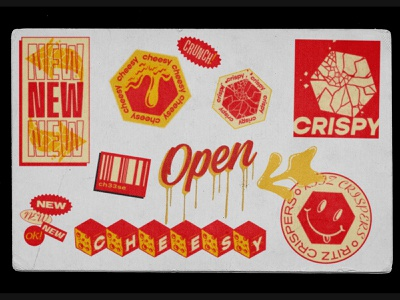 RITZ Cheese Crispers 3 360i advertising client crackers ritz supreme streetwear sticker design stickermule stickers poster iconography flat vector design food simple branding typography illustration