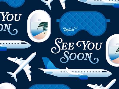 United: Instagram stickers united plane airplane airline wanderlust travel stickermule sticker instagram advertising flat minimal web icon ui ux simple logo branding illustration