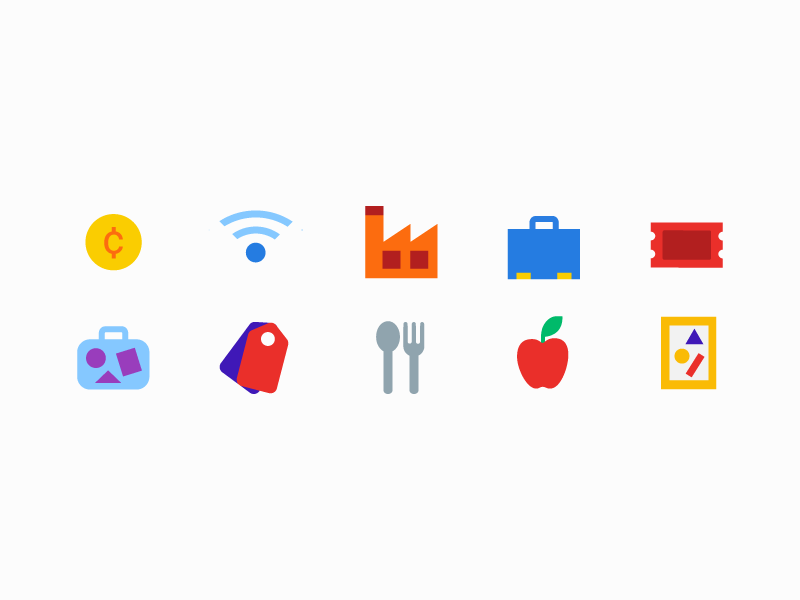 Industries icons iconography ui small category professions industry illustration icon