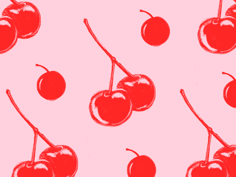 Cherri Bois procreateapp procreate fruit cherry typography design icon food illustration