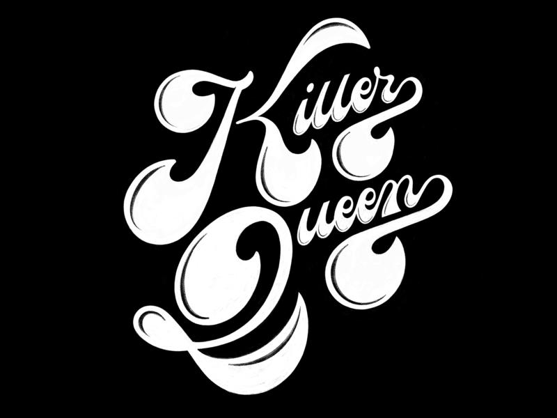 Killer Kween ✨✨ rock procreate logo typography lettering handlettering illustration