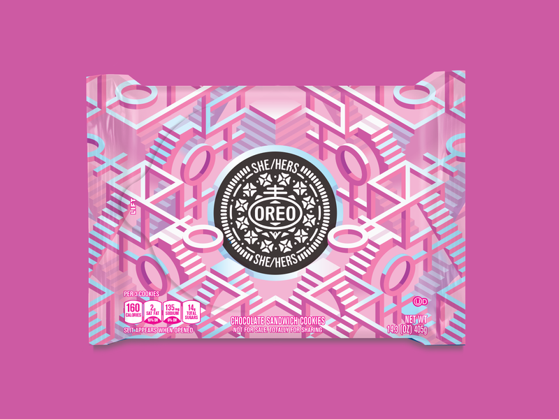 Oreo Pride: Hers world pride pride special edition illustration packaging oreo