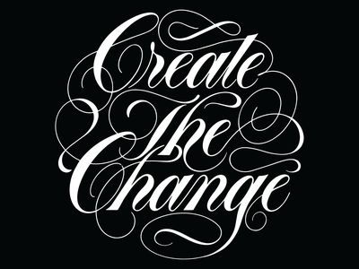 thing retro script copperplate spencerian vector design simple typography lettering handlettering illustration