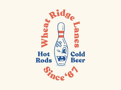 Wheaty Lanes logo bowling league character bowling pin bowling