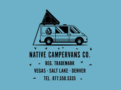 Native Campervans apparel graphics adventure logo vanlife apparel design tshirt