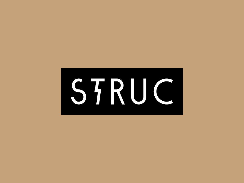 STRUC logo lightning bolt nyc