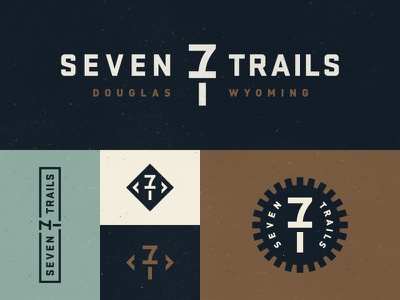 Seven Trails seven trails monogram logo douglas wyoming cowboy stuff spur trail brand