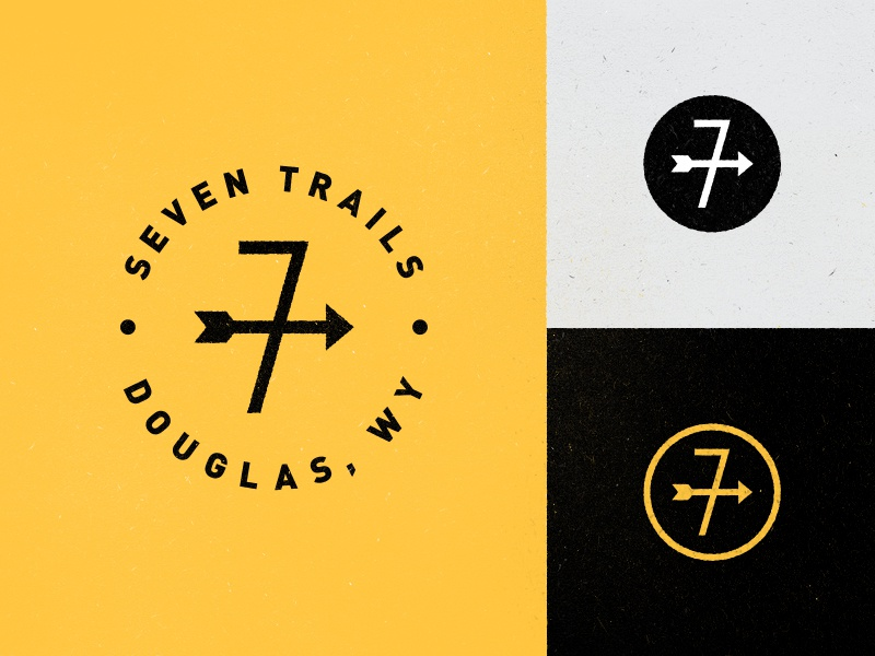 Seven Trails seven trails arrow weathervane logo douglas wyoming cowboy stuff trail brand