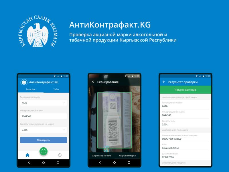 Antikontrafakt.kg app mobile app design ui ux