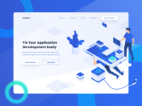Mobile App Development Header Website