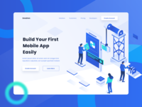 Mobile App Builder Header Website