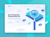 Bug Finder Isometric Header Website