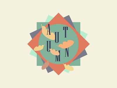 Autumn Badge - Weekly Warmup 🍁 ui graphic design pastel autumn badge branding logo dribbble illustration design concept minimal