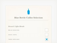 Blue Bottle Coffee List