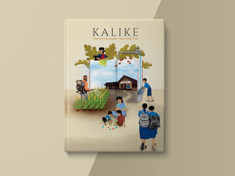 Kalike Book Cover rural philanthropy print design print branding photoshop design digital painting character art concept illustration