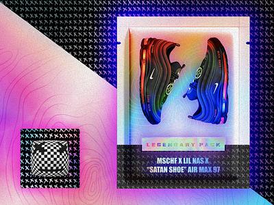 Lil Nas X MSCHF Satan Shoes Air Max 97 666 sounds music animated design logo project branding animation kicks sneakers stock x goat nike lil nas x satan