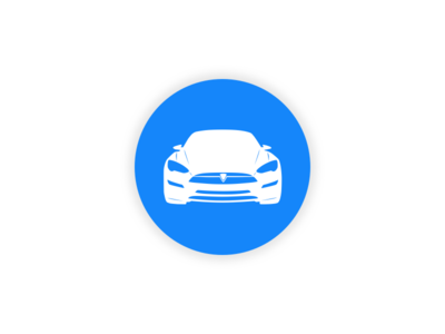 Tesla car icon by Josh Head - Dribbble