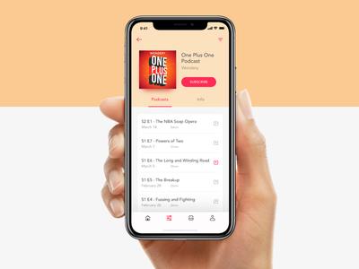 PodPro Podcast screen