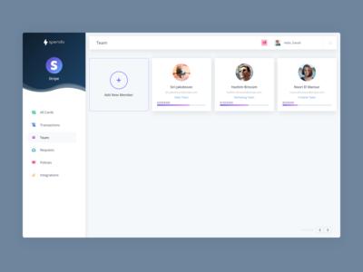 Spendo | Web App Screen: Team