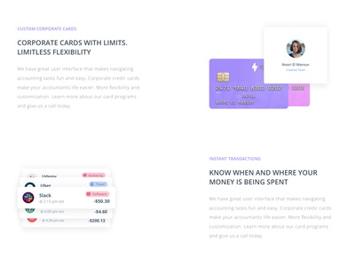 Spendo | Feature Section & Landing Page complete