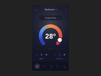 Temperature Animation & Ambient Color Change