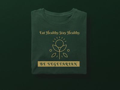 Eat Healthy Stay Healthy coronavirus corona vegetarian vegan health healthy food illustrator icon minimal flat illustration vector typography design