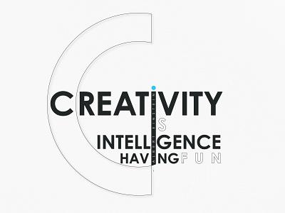 Creative Text minimal flat illustration typography design
