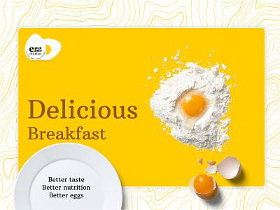 Delicious Egg flat vector type ui ux minimal illustration branding typography design