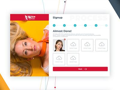 Signup Process vector type minimal website web ux ui flat typography branding design