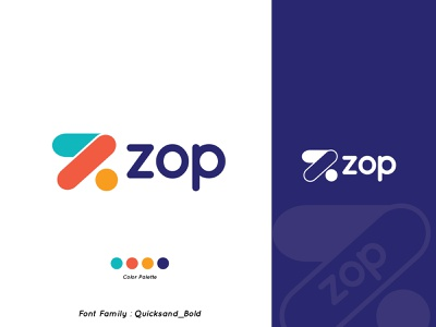 ZOP type branding illustration design icon web typography logo vector