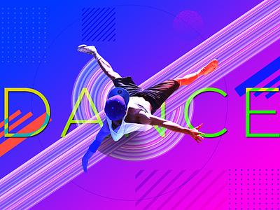 Dance minimal vector illustration app logo website branding typogaphy web shapes abstract colors abstract dance design