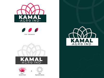 Logo green pink lotus website minimal icon logo illustration branding vector design