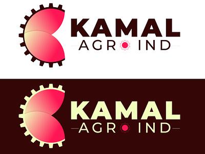 Logo pink blossom type minimal flat website ux ui web vector illustration typography branding logo design