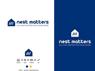 Logo real estate agency property home real estate flat icon minimal logo illustration vector typography branding design