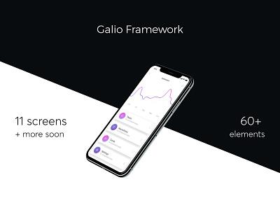 Galio - React Native Framework screen photoshop sketch ui ux react native mobile free framework