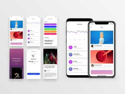 Galio Examples React Native ui ux mobile button states cards ui react native onboarding ui chart github free framework