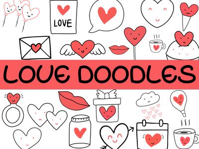 Love Doodles Stickers