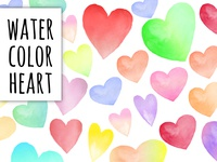 Water Color Heart Stickers