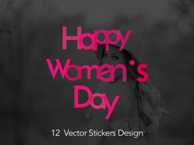 Happy Women's Day Stickers