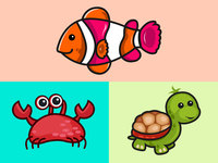 Sea creature Stickers