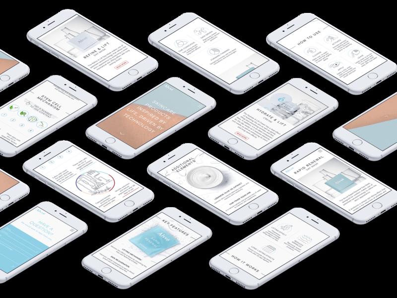 Alvvé website - mobile view