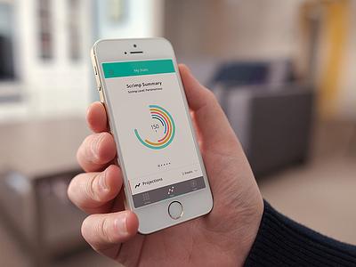 Scrimpin' Wheel scrimp uiux stats circle graph money finance ios7 app iphone 5 s