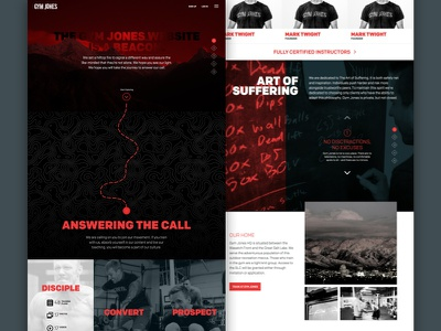 Online Gym Page Layouts layout scrolling slider rollover navigation explore ui ux web design