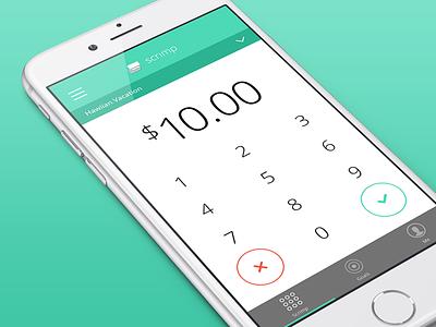 Scrimp Number Pad number pad money numbers x check finance scrimp ios app iphone 6 green gradients